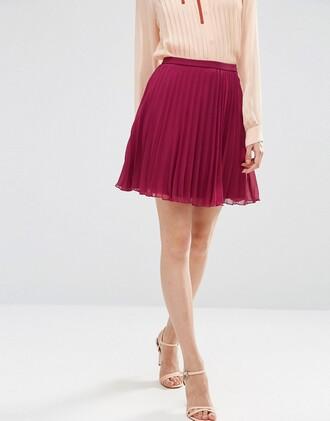 skirt mini skirt pleated skirt clothes asos