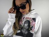 tupac,hoodie,white,streetwear,floral