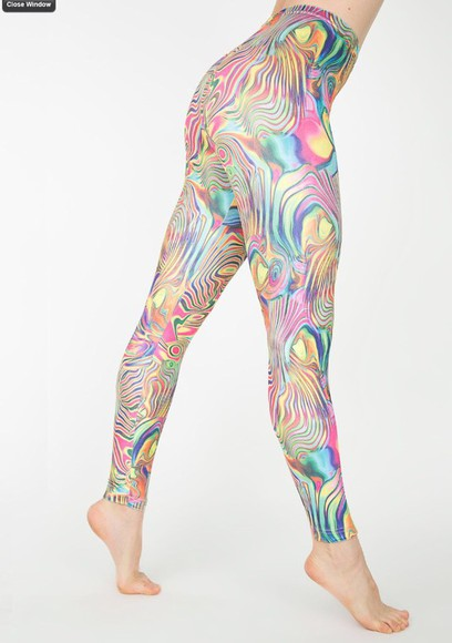 colourful rainbow high waisted psychedelic psychedelic print trippy trippy, leggings, cute, selena gomez, rihanna hippie high waisted pants high waisted leggings