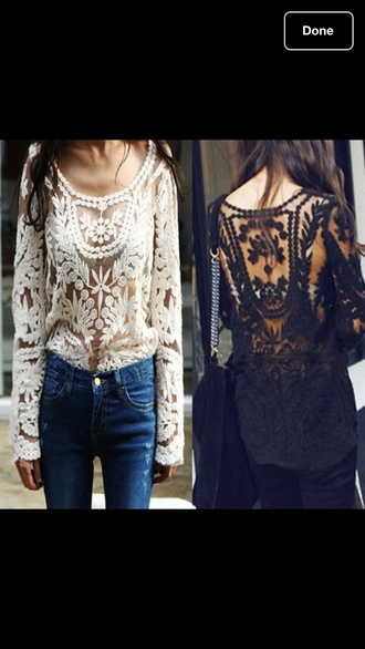 sweater crochet lace