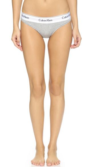 thong cotton grey heather grey underwear