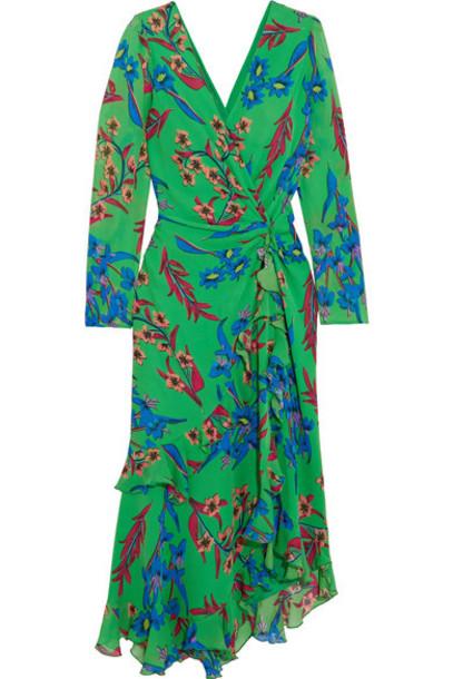 ETRO dress midi dress back midi floral print silk green