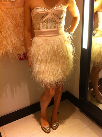 dress feathers feather dress short feather dress pink gorgeous gorgeous dress studs