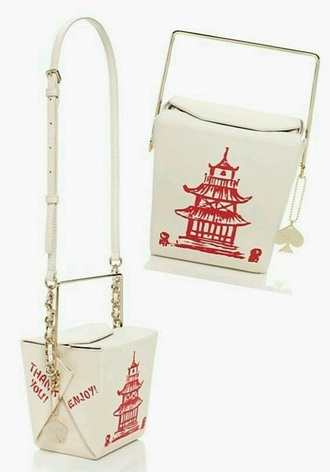 bag chinese white food shoulder bag