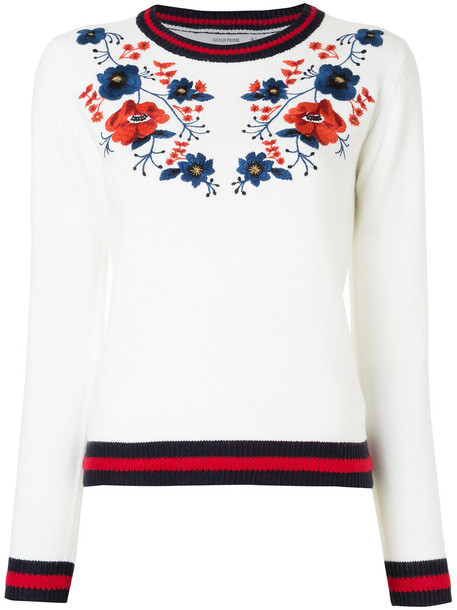 Guild Prime sweater embroidered women floral white