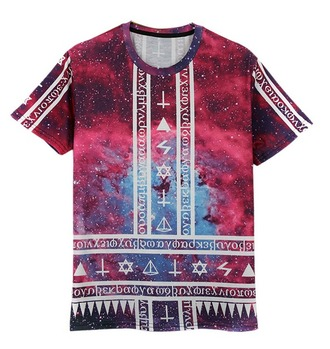 shirt galaxy shirt triangle crosses