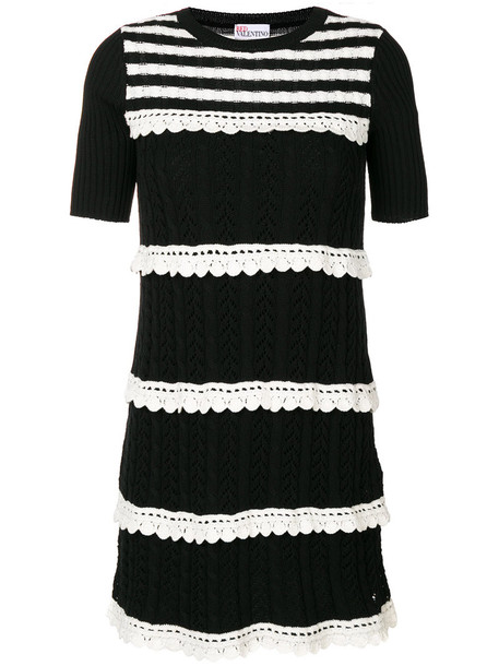 RED VALENTINO dress knitted dress women cotton black