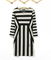 Womens celeb monochrome black white striped optical illusion party bodycon dress