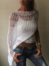 top,knitted tunic top,knited,crotchet top,i want tis poncho