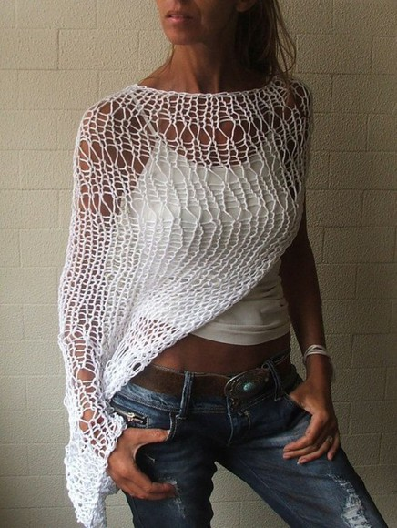 top knitted tunic top knited crotchet top