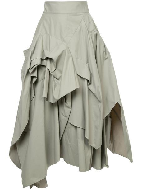 MATICEVSKI skirt women cotton grey