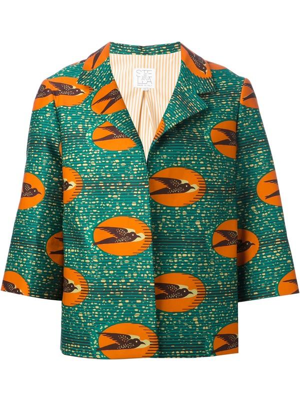 jacket 'ibisco' boxy jacket boxy jacket birds stella jean