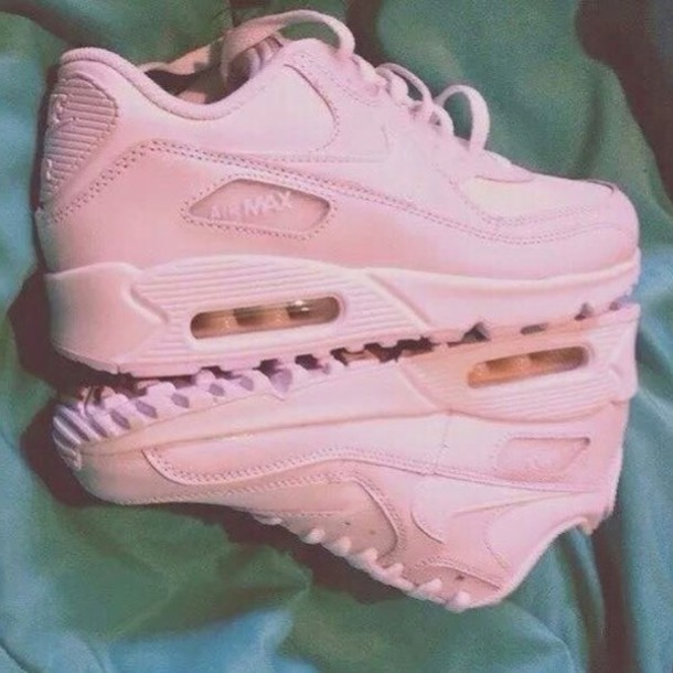 save off 846df 92430 shoes sneakers pink sneakers nike nike air max 90 air max low top sneakers  nike sneakers