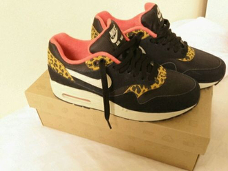 shoes nike air max 1 air max sneakers leopard