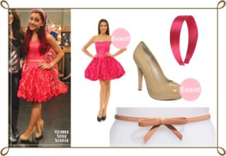 dress ariana grande cat valentine sam & cat piano floral rose victorious sam and cat sweetheart dresses