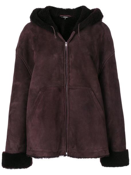 yeezy coat short women brown