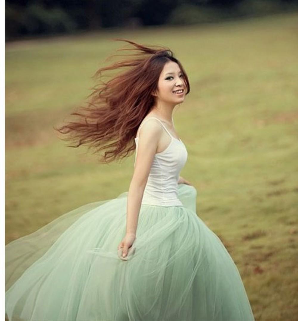 nueva moda de la mujer princesa de hadas de estilo 5 capas de gasa falda de tul bouffant hinchada de moda las