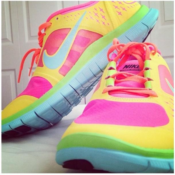 Popular Nike Tennis Shoes Women Colorful 100 Original Nike Free Run
