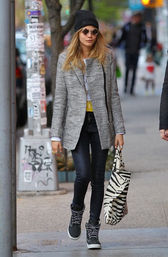 shoes cara delevingne coat cardigan