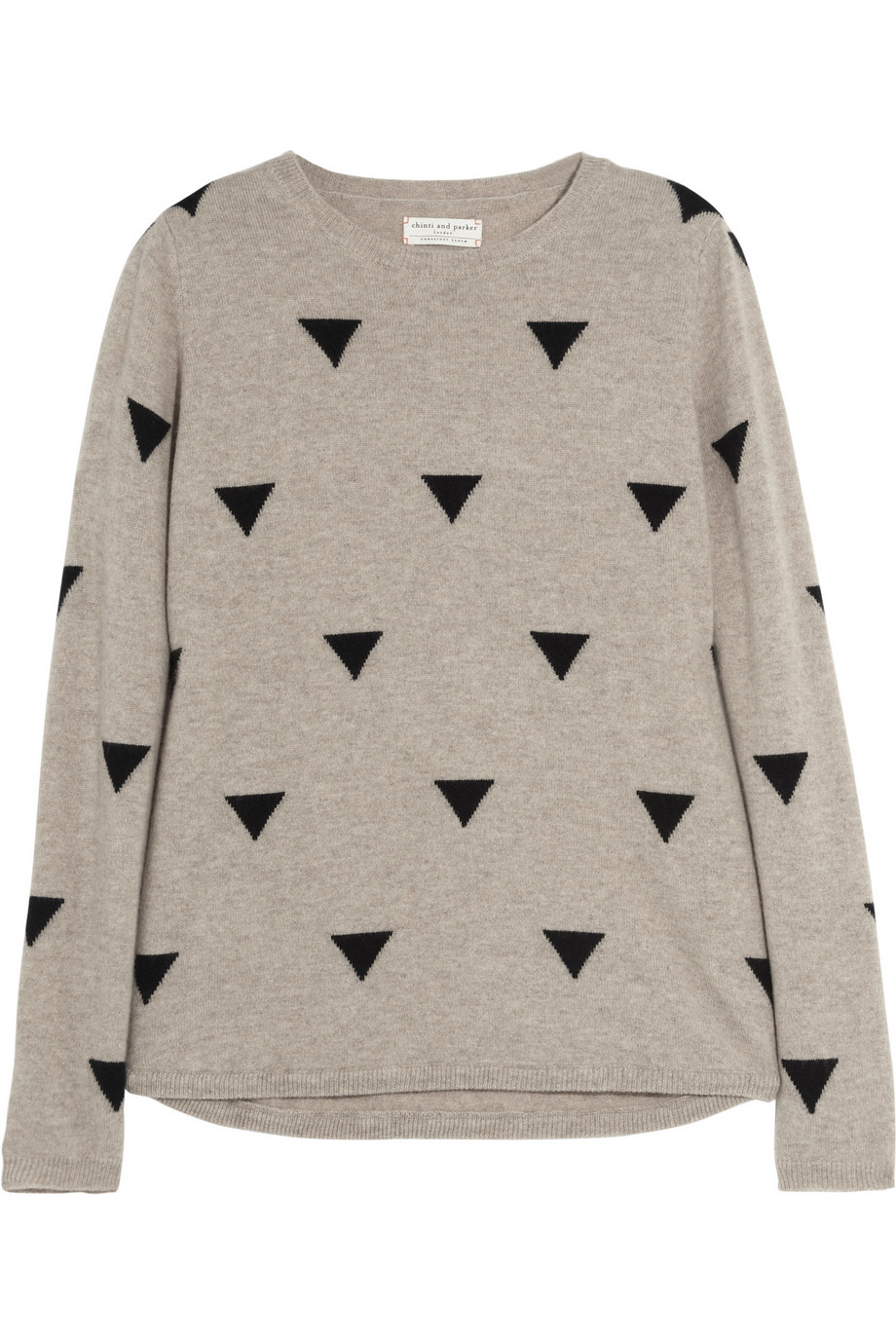Triangle-intarsia cashmere sweater | THE OUTNET