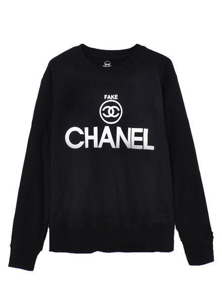 THE ELITE FAKE CHANEL SWEATER BY AMERICAN VANDALS- BLACK – American Vandals