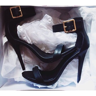shoes high heels pumps strappy heels one strap nastygal