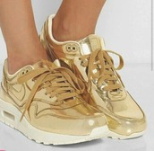 shoes,nike,nike shoes,nike womens shoes,nike gold,gold,hipster,stylish,2016,goldish,sneakers,nike sneakers