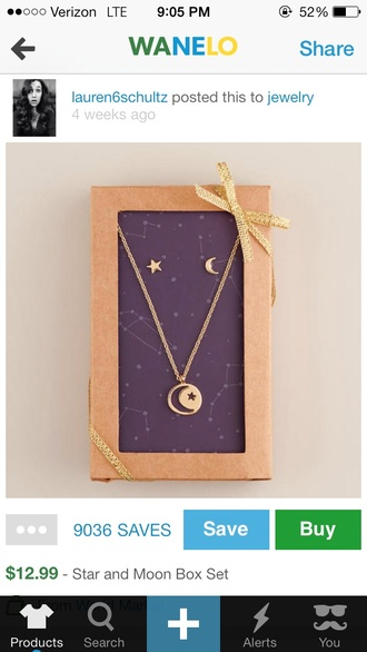 necklace jewels moon moon star earrings