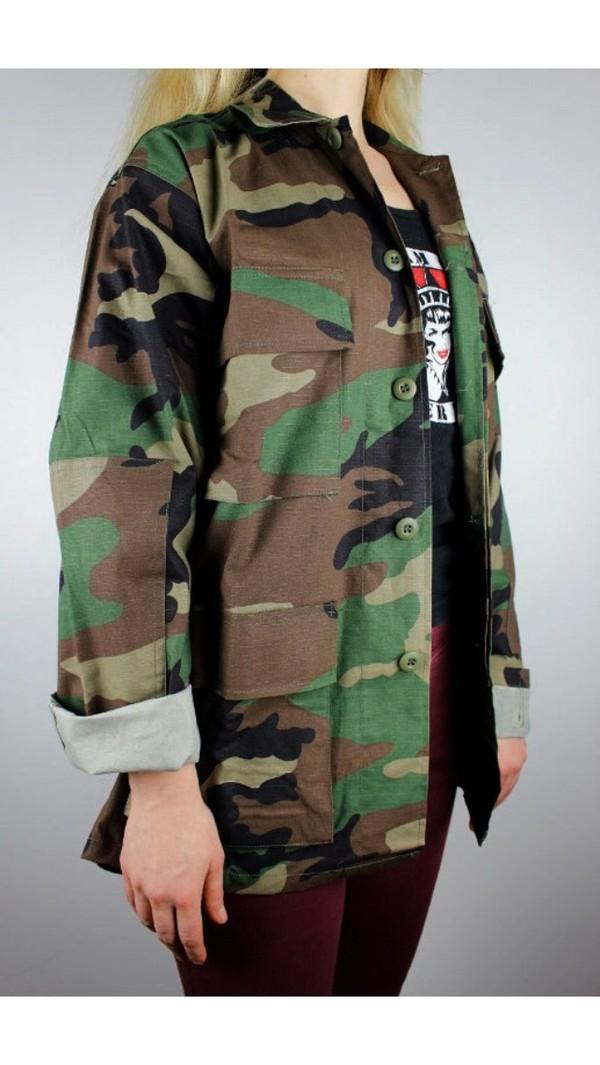 jacket camouflage camo jacket vintage