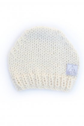 Varvara Hand Knit Beanie - Natural by Van Aller | The Grand Social