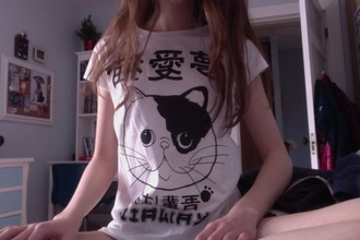 t-shirt indie grunge pale hipster cats japanese asian