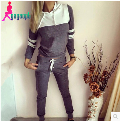 suit lining Picture - More Detailed Picture about sudaderas mujer 2016 new  Letter Print women s tracksuits women cotton costume sport suit sweatshirt  2 ... f37bca37c6