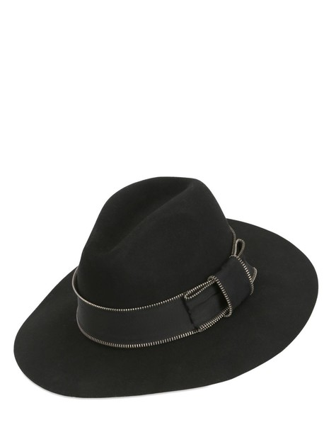 karl lagerfeld hat wool black