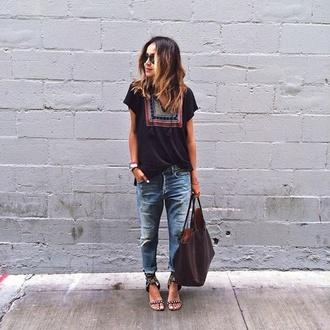 bag t-shirt blouse blouse and pants  top black short sleeved black boho hippie summer swag sincerely jules