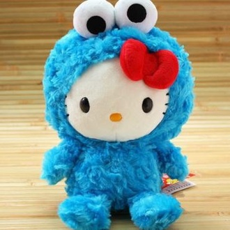 home accessory hello kitty cookiemoster stuffed animal