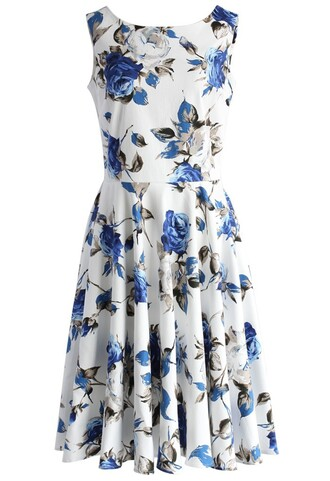 dress be my valentine rose print dress chicwish printed dress rose dress floral dress