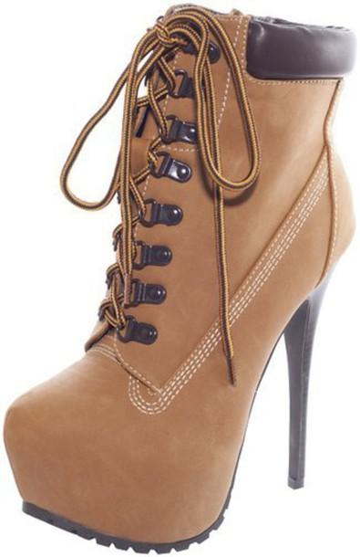 3eb23bcd4f4 shoes timberland heels workboots nubuck platform shoes high heels boots sexy