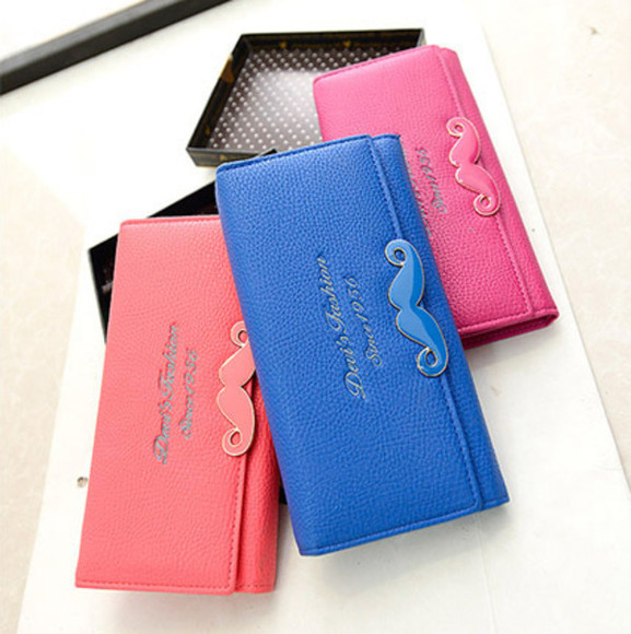 rose blue bag wallet