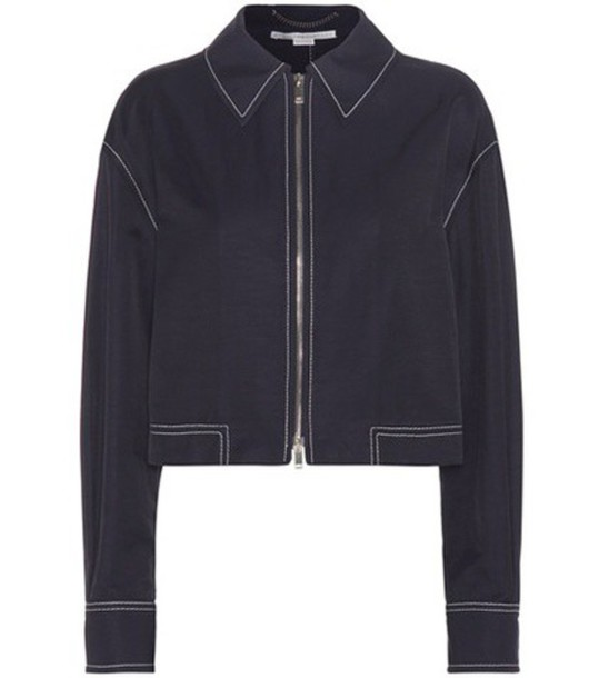 Stella McCartney jacket cropped jacket cropped blue