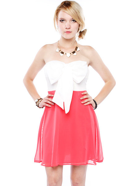Papaya Clothing Online :: BIG BOW CHIFFON DRESS on Wanelo