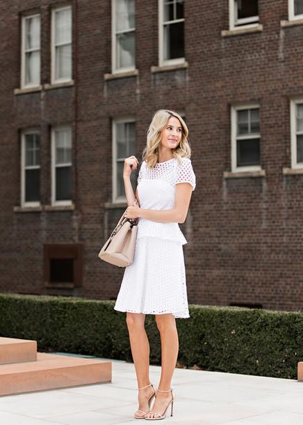 ivory lane, blogger, bag, white dress