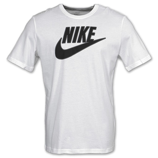 mens nike futura tee shirt white stealth black. Black Bedroom Furniture Sets. Home Design Ideas