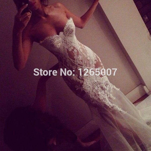 Aliexpress.com : buy new arrival sweetheart see through lace tulle sexy sexy fashion mermaid summer prom dresses pargent fashion gowns from reliable gowns white suppliers on sfbridal