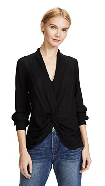 L'Agence blouse black top