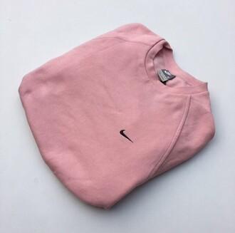 sweater pink nike vintage crewneck jumper pink sweater dusty pink