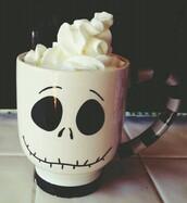 sunglasses,mug,jewels,home accessory,jack skellington,skull,tim burton,burton,halloween,disney,walt disney,cup,tea mug,cup tea,coffee,squelette,squeleton