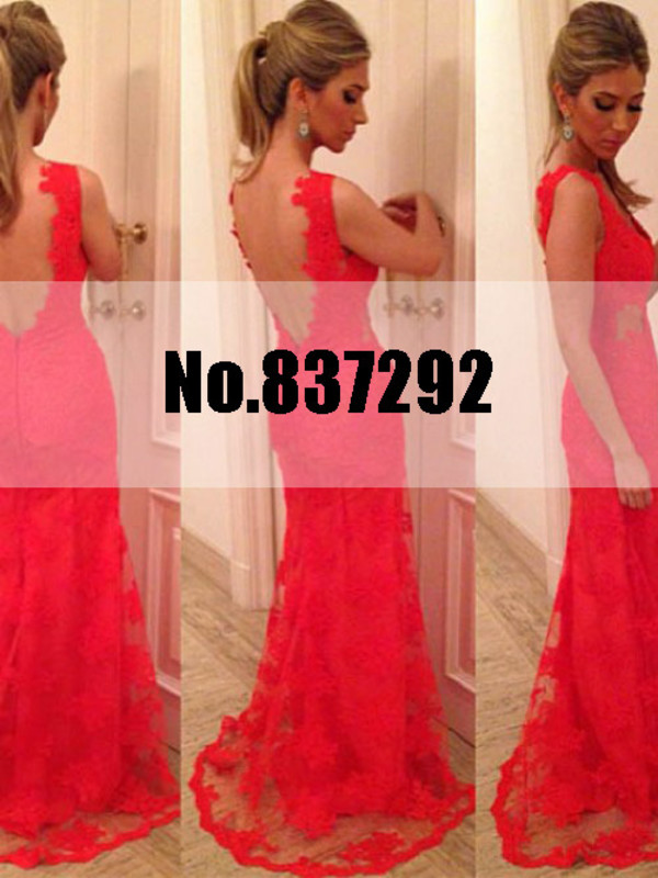 formal dress red lace evening dress backless evening dress wedding dress bridal dresses