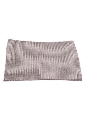 Col maille carreaux gris - accessoires cachemire - Cachemire.com