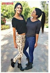 pants,colorful pants,kendall and kylie,kendall jenner,shoes,t-shirt