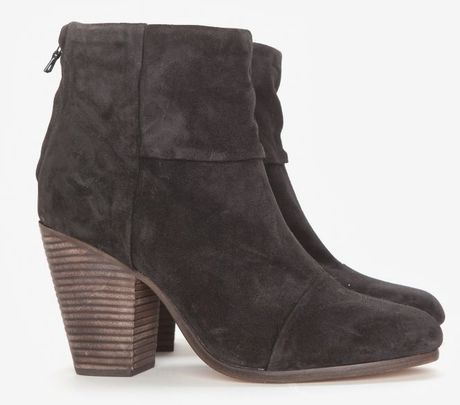 Rag & bone preorder classic newbury suede booties in gray (grey)